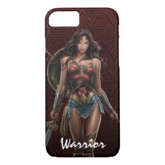 Wonder Woman Battle-Ready Comic Art iPhone 7 Case