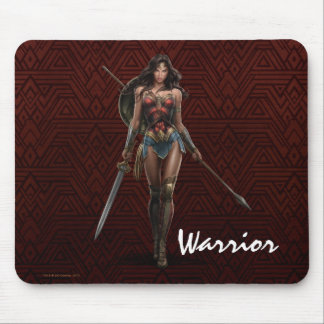 Wonder Woman Battle-Ready Comic Art Mouse Pad