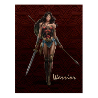 Wonder Woman Battle-Ready Comic Art Postcard