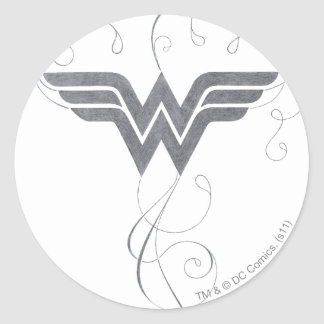 Wonder Woman   Beauty Bliss Logo Classic Round Sticker