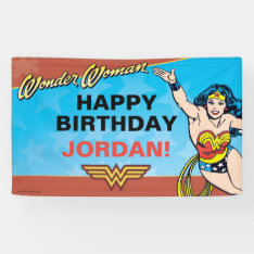 Wonder Woman Birthday Banner at Zazzle