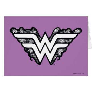 Wonder Woman Black Lace Logo Card