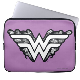 Wonder Woman Black Lace Logo Laptop Sleeve
