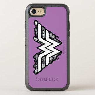 Wonder Woman Black Lace Logo OtterBox Symmetry iPhone 7 Case