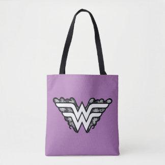 Wonder Woman Black Lace Logo Tote Bag