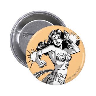 Wonder Woman Black & White Defender Pinback Button