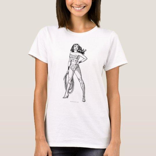 Wonder Woman Black & White Pose T-Shirt
