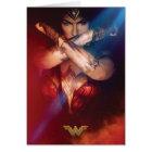 Wonder Woman Blocking With Bracelets Card