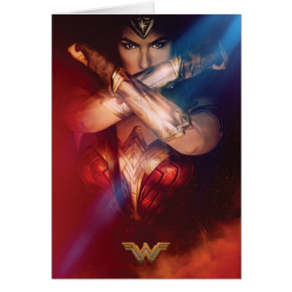 Wonder Woman Blocking With Bracelets Card