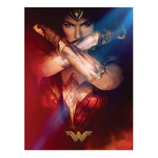Wonder Woman Blocking With Bracelets Postcard