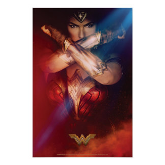 Wonder Woman Blocking With Bracelets Poster