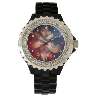 Wonder Woman Blocking With Bracelets Wristwatch