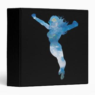 Wonder Woman Blue Sky Silhouette 3 Ring Binder