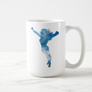 Wonder Woman Blue Sky Silhouette Coffee Mug