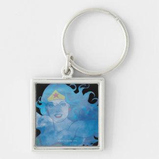 Wonder Woman Blue Sky Silhouette Keychain