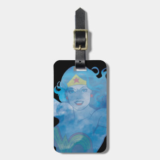 Wonder Woman Blue Sky Silhouette Luggage Tag
