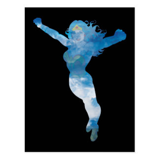 Wonder Woman Blue Sky Silhouette Postcard