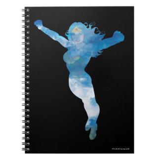 Wonder Woman Blue Sky Silhouette Spiral Notebook