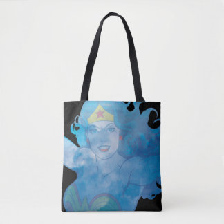 Wonder Woman Blue Sky Silhouette Tote Bag