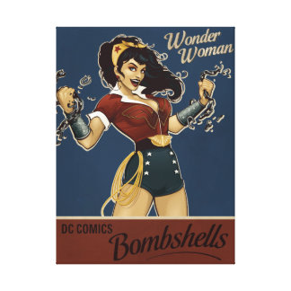 Wonder Woman Bombshell Stretched Canvas Print
