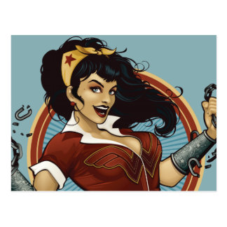 Wonder Woman Bombshell Name Graphic Postcard