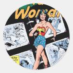 Wonder Woman Box of 3 Dooms Classic Round Sticker