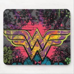 Wonder Woman Brick Wall Collage Mouse Pad