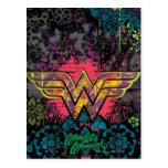 Wonder Woman Brick Wall Collage Postcard