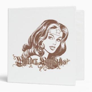 Wonder Woman Brown Vinyl Binder