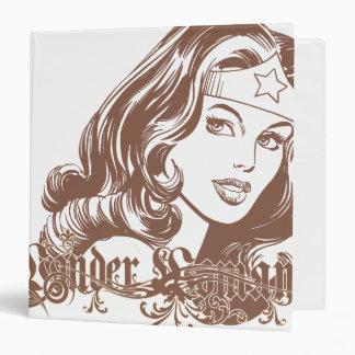 Wonder Woman Brown Vinyl Binders
