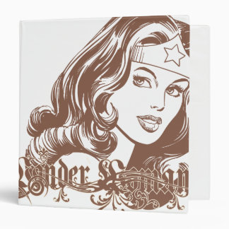 Wonder Woman Brown Binder