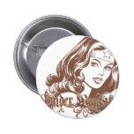 Wonder Woman Brown Button
