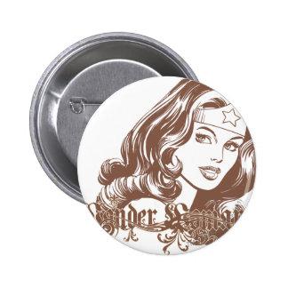 Wonder Woman Brown Pins