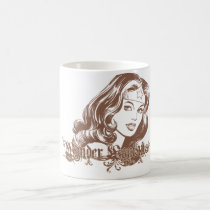 wonder woman, wonder, woman, wonderwoman, wonder woman comic, superheroine, all star comics, amazon, superhuman strength, lasso of truth, indestructible bracelets, justice league, feminist icon, lynda carter, super friends, Mug with custom graphic design