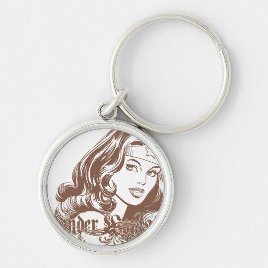 Wonder Woman Brown Keychain