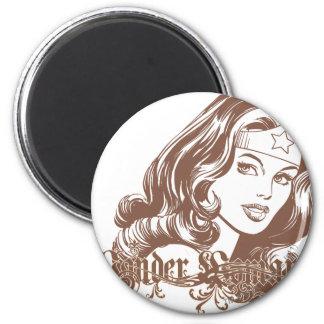Wonder Woman Brown Fridge Magnet