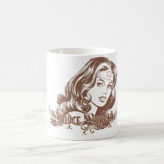 Wonder Woman Brown Classic White Coffee Mug