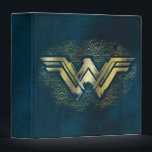 """Wonder Woman Brushed Gold Symbol Binder<br><div class=""""desc"""">Check out this Wonder Woman symbol,  painted with gold,  atop an Amazonian pattern.</div>"""