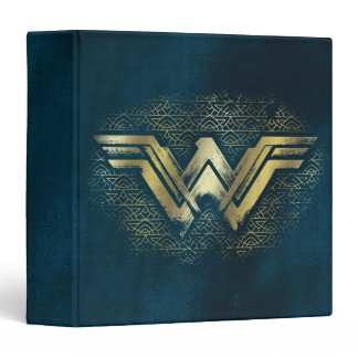 Wonder Woman Brushed Gold Symbol Binder