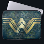 "Wonder Woman Brushed Gold Symbol Computer Sleeve<br><div class=""desc"">Check out this Wonder Woman symbol,  painted with gold,  atop an Amazonian pattern.</div>"