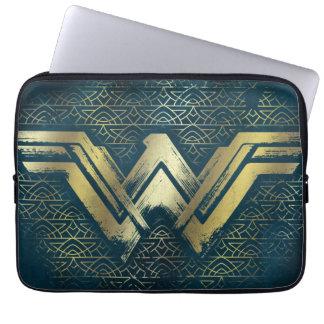 Wonder Woman Brushed Gold Symbol Computer Sleeve