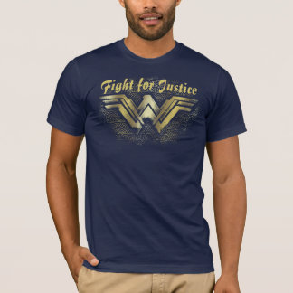 Wonder Woman Brushed Gold Symbol T-Shirt