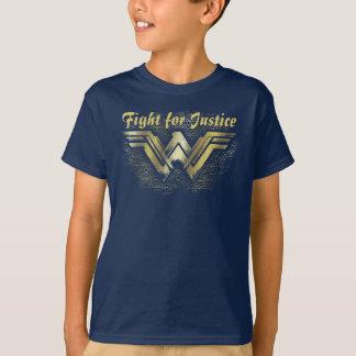 Wonder Woman Brushed Gold Symbol T-Shirt