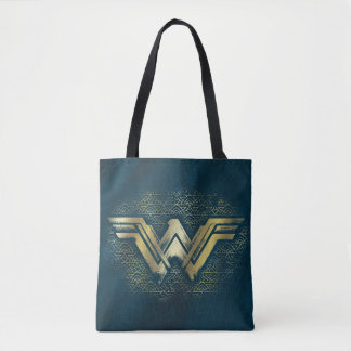 Wonder Woman Brushed Gold Symbol Tote Bag