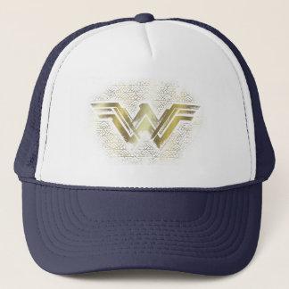 Wonder Woman Brushed Gold Symbol Trucker Hat