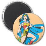 Wonder Woman Cape 2 Inch Round Magnet