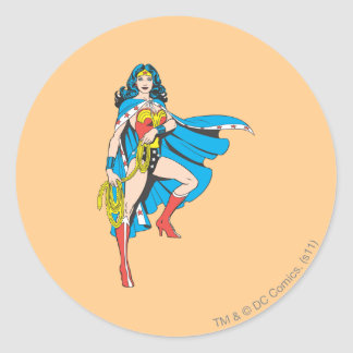 Wonder Woman Cape Classic Round Sticker