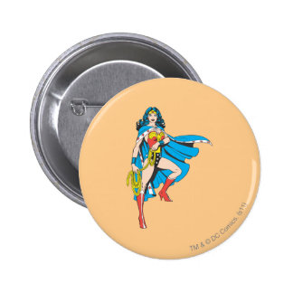 Wonder Woman Cape Pinback Button