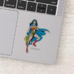 Wonder Woman Cape Sticker