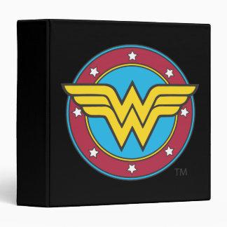 Wonder Woman Circle & Stars Logo Binder